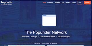 Popcash homepage