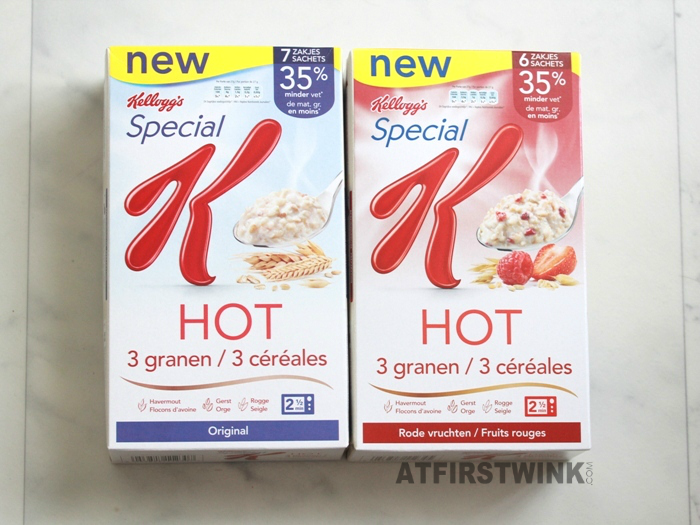 Review: Kellog's Special K Hot 3 granen original and red fruits