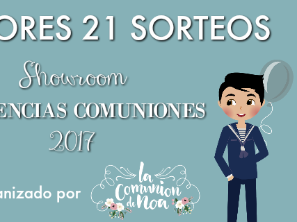 Ganadores sorteos Showroom Tendencias Comuniones 2017
