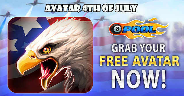 8 ball pool avatar MVP Award avatar 4th of July