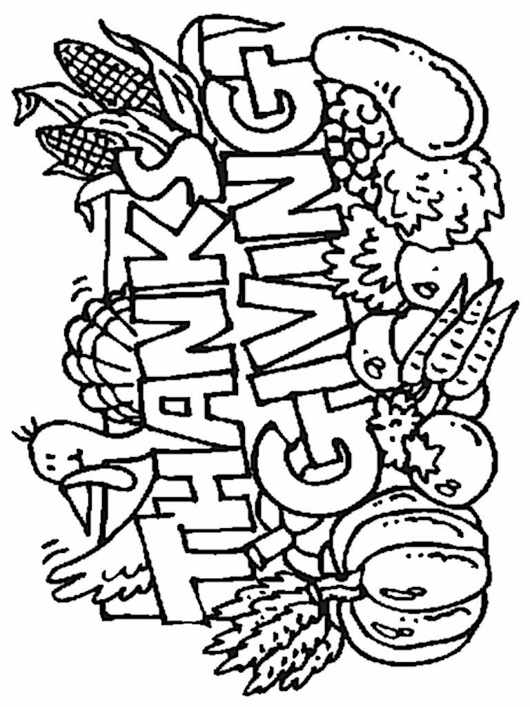 thanks giving coloring pages - photo #43