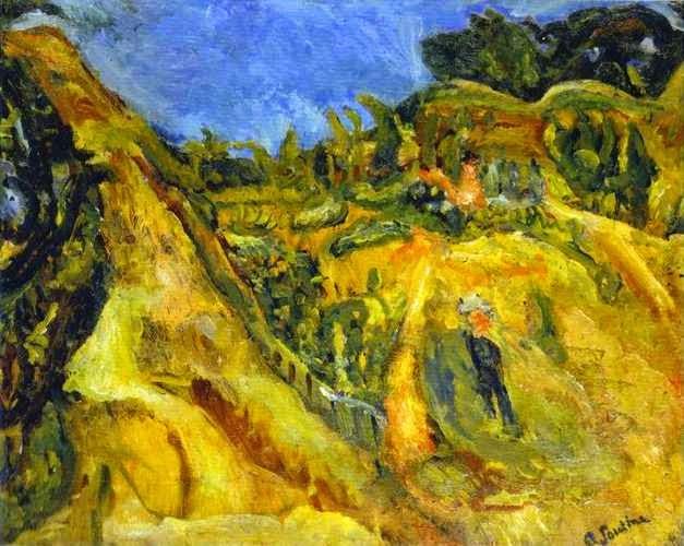 Paisagem do Sul da França - Chaïm Soutine e seu expressionismo violento e atormentado