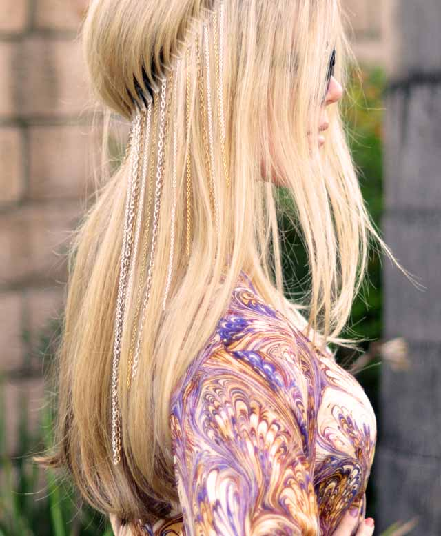 zinçirli saç aksesuarları çeşitleri