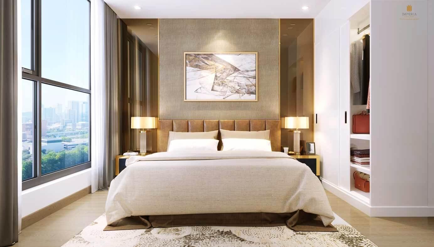 Phòng ngủ căn hộ cao cấp Imperia Eden Park Mễ Trì