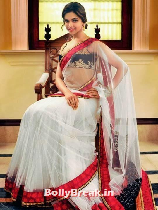 , Deepika Padukone Low Waist Saree Pics & Wallpapers in HD