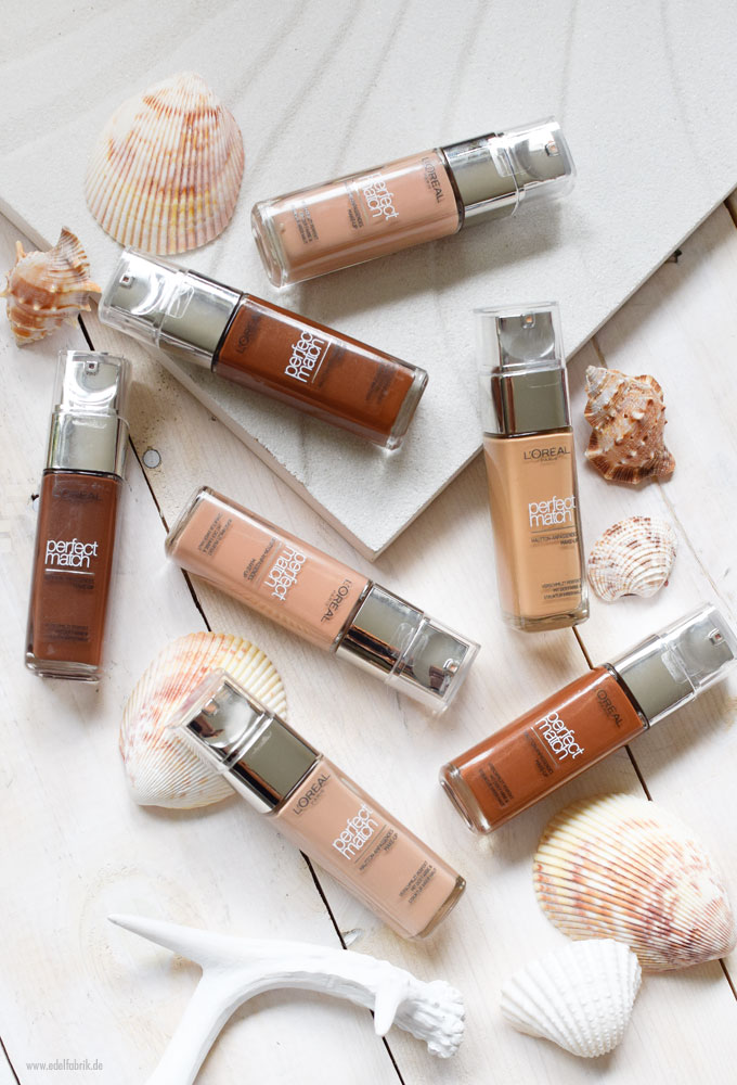 L'Oreal Perfect Match Foundation, alle Nuancen
