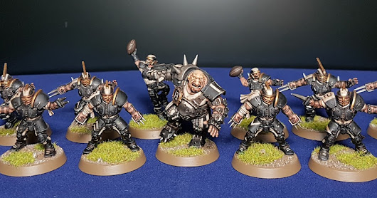 Workbench Progress - Human Blood Bowl Team Marauders