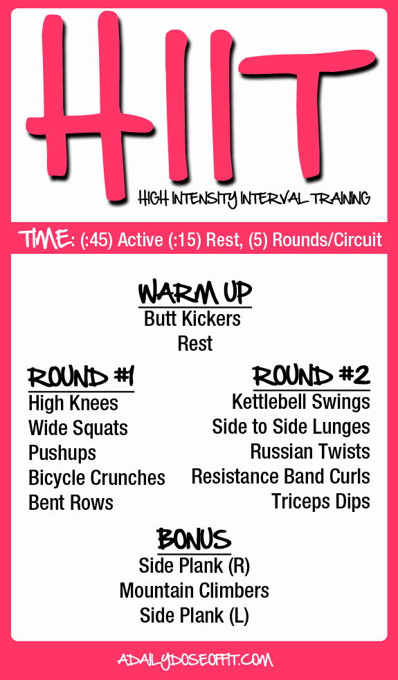 A Daily Dose of Fit: 11 Awesome HIIT Workouts