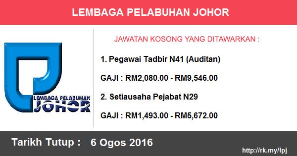 Jawatan Kosong di Lembaga Pelabuhan Johor