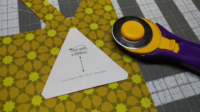 Fussy cutting triangles