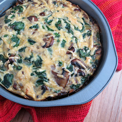 Mushroom and Spinach Frittata with Smoked Gouda {Alida's Kitchen}