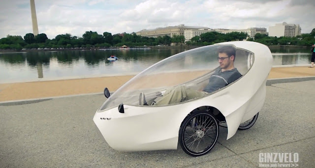 This personal car is an evolution of the electric bike ideal for cities