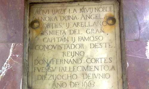 La tumba de la bisnieta de Hernán Cortés