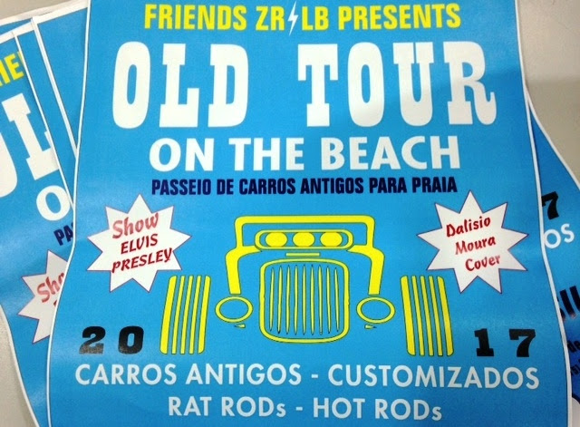 Ilha Comprida sedia na sexta 14/04 e sábado 15/04 o Old Tour on the Beach- Passeio de carros antigos para praia