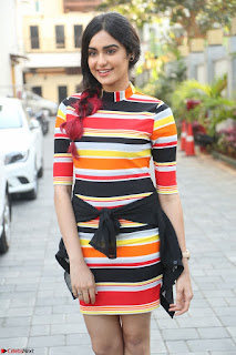 Adha Sharma in a Cute ed Short Tight Colorful Dress Spicy Pics Feb 2017 004.JPG