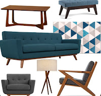 The Ultimate in Affordable MCM Living Room Wishlist
