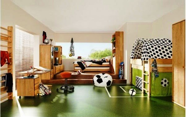 Desain kamar tidur untuk anak laki-laki paling unik