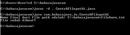 file path Java