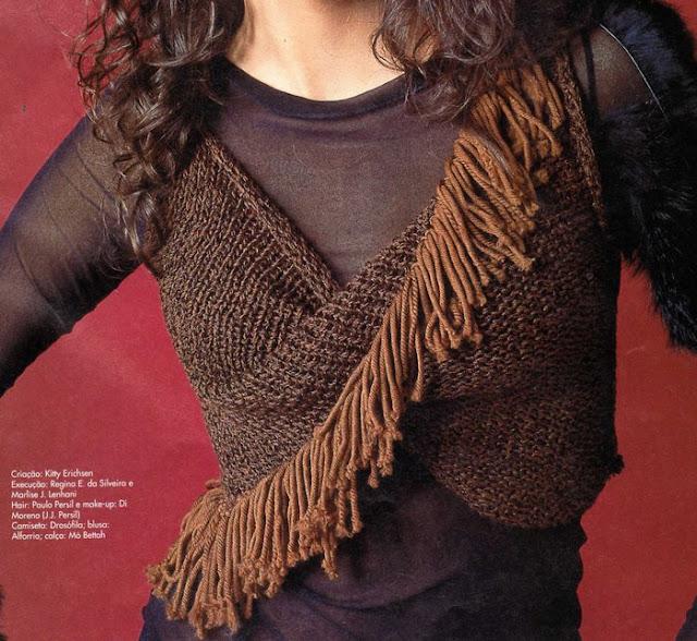 Chaleco Crochet en Circulo Cruzado
