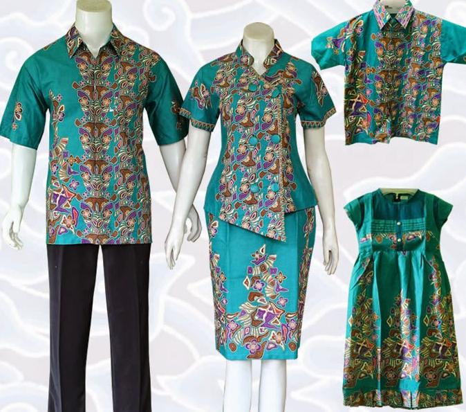 9 Baju Batik Pasangan Suami Istri Dan Anak Terbaru Elegan