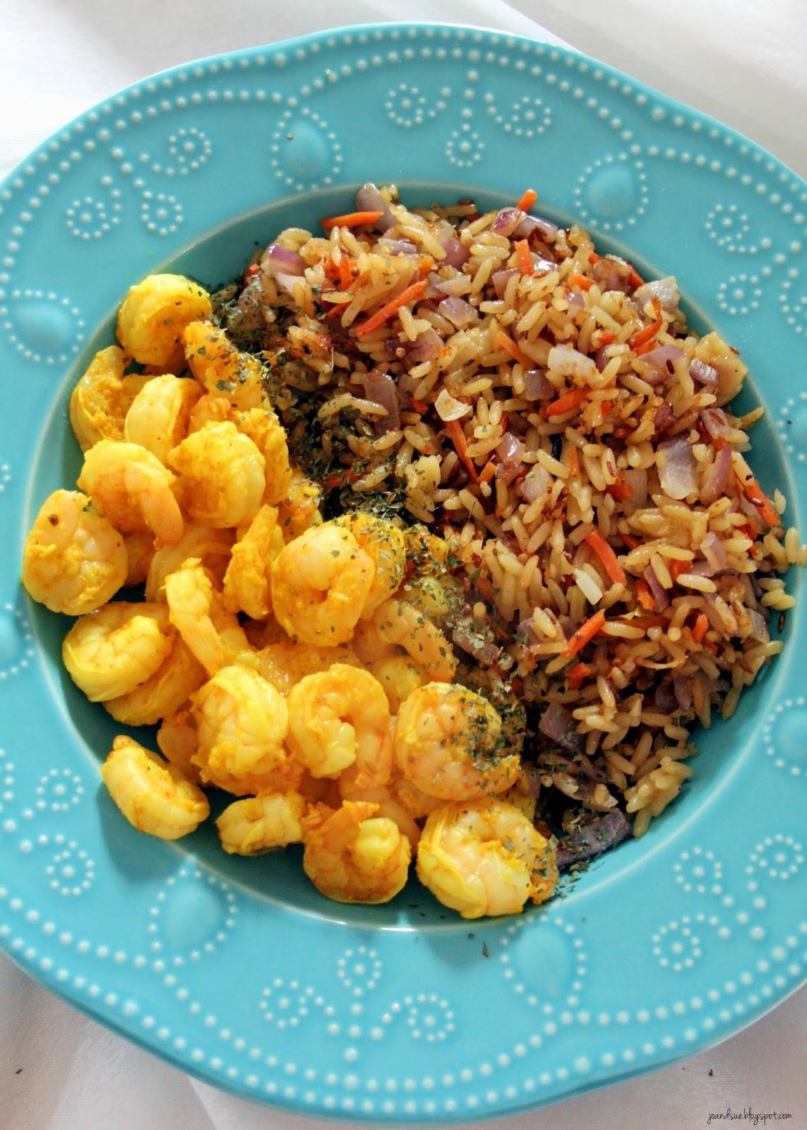 Jo and Sue: Tandoori Prawns and Indian Style Rice