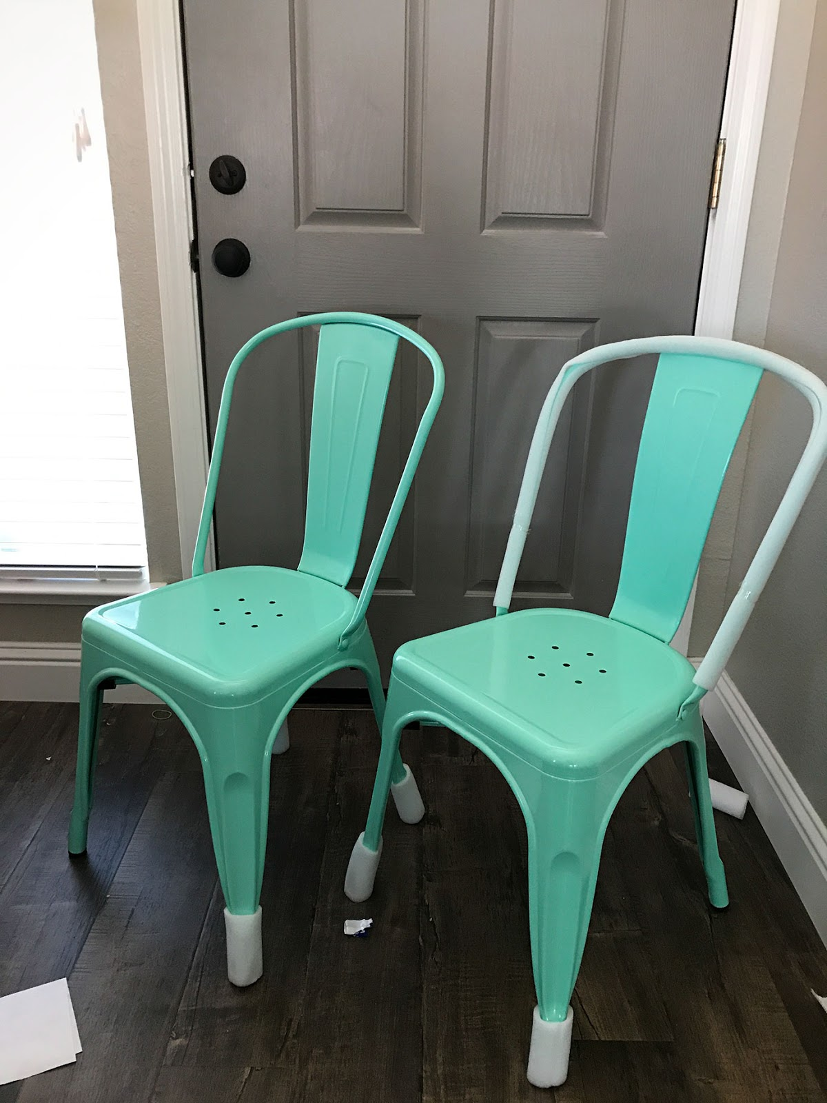Flash Furniture Metal Mint Green Chair Farmhouse Industrial Style