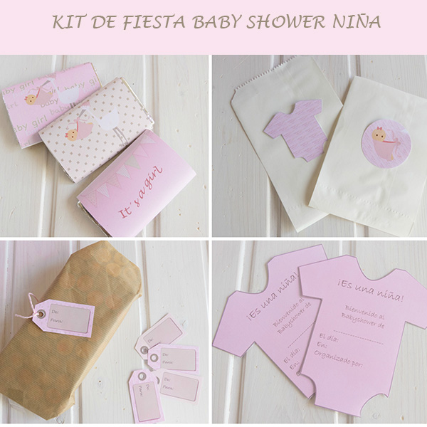 kit de fiesta baby shower niña