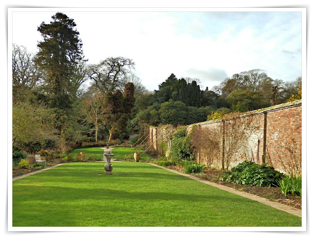 Formal garden at the Lost Gardens of Heligan, Cornwall
