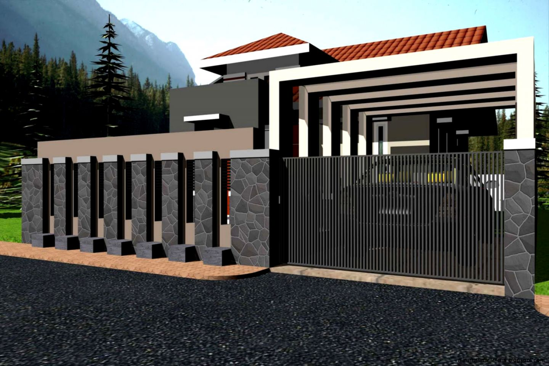 gambar model pagar rumah minimalis 2015