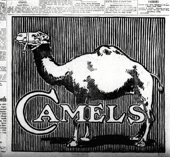 Camel advertising May 19, 1914
