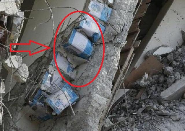 Mencengangkan, Ada Kaleng di Tembok Apartemen Taiwan yang Roboh
