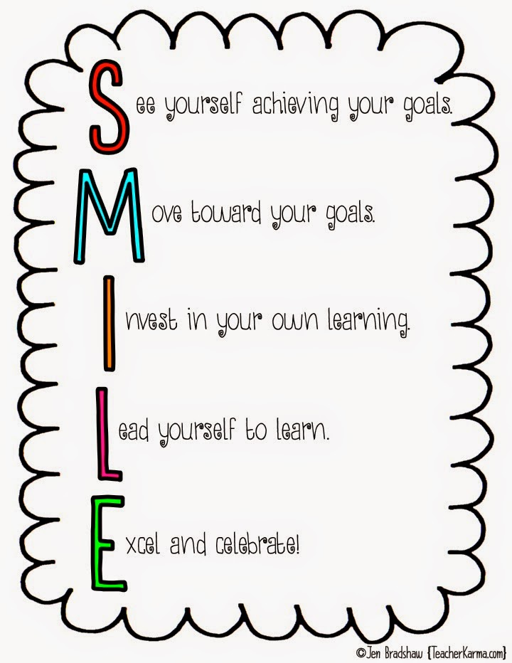 How to set goals with your students.  teacherkarma.com
