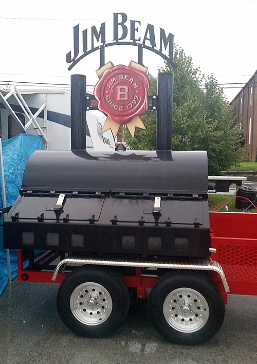 Jim Beam BBQ rig, Jim Beam Smoker, Jim Beam BBQ contest