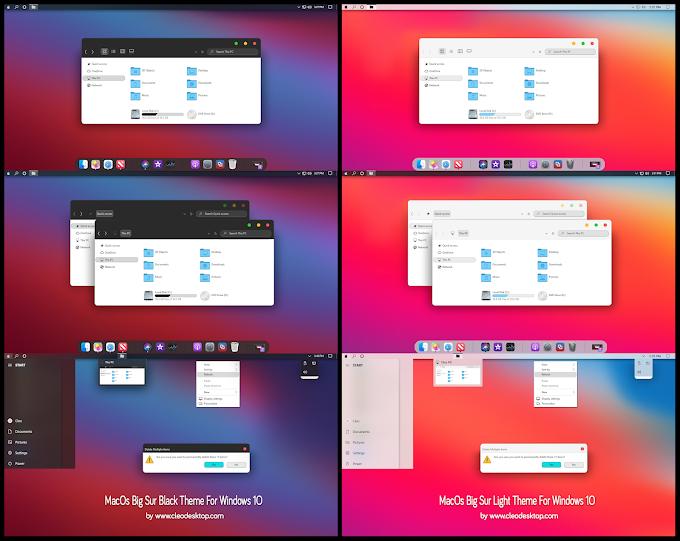 MacOs Big Sur Black And Light Theme For Windows 10