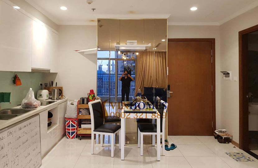 Căn hộ cho thuê 1PN tại Vinhomes Bình Thạnh view sông SG - khu bếp