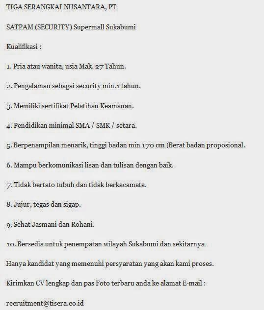Loker Terbaru Sukabumi 2013 Lihat Loker Info Lowongan Kerja Terbaru September 2016 Lowongankerjasukabumi Lowongan Kerja Terbaru Juni 2014