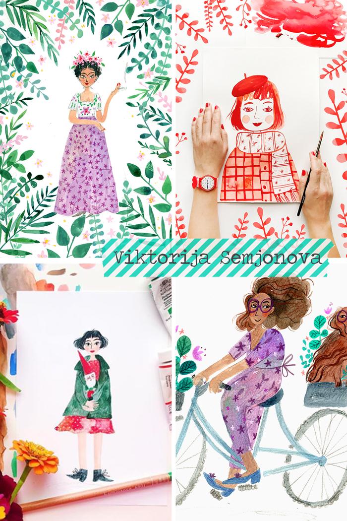 And Smile Studio, Latvian illustrator based in London, painting, watercolor, gouache, art, creativity