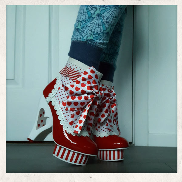 wearing irregular choice rosie with love rosanna gault ankle boot