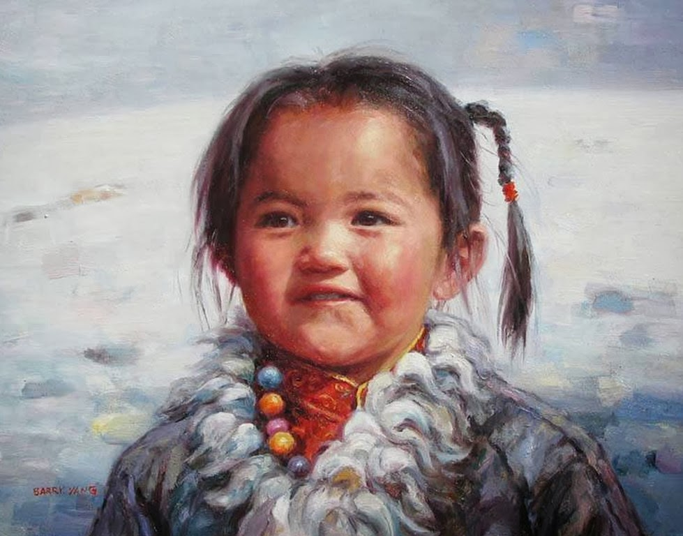 Pintura Moderna Y Fotografía Artística Rostros De Niños Pintados Al óleo Retratos Infantiles Barry Yang China