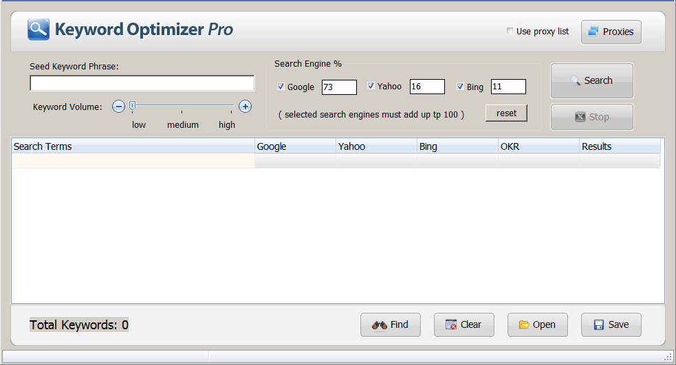 keyword optimizer pro - free offline keyword research tool
