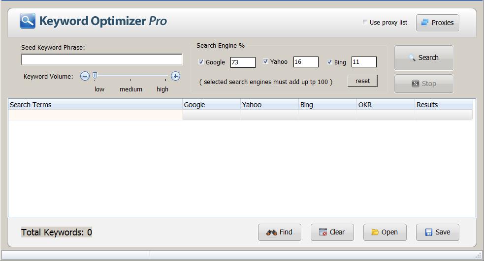 keyword optimizer pro - free offline keyword research tool