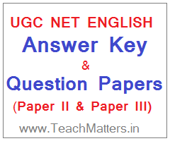 image : UGC NET English Answer Key 2018 Question Papers @ TeachMatters.in