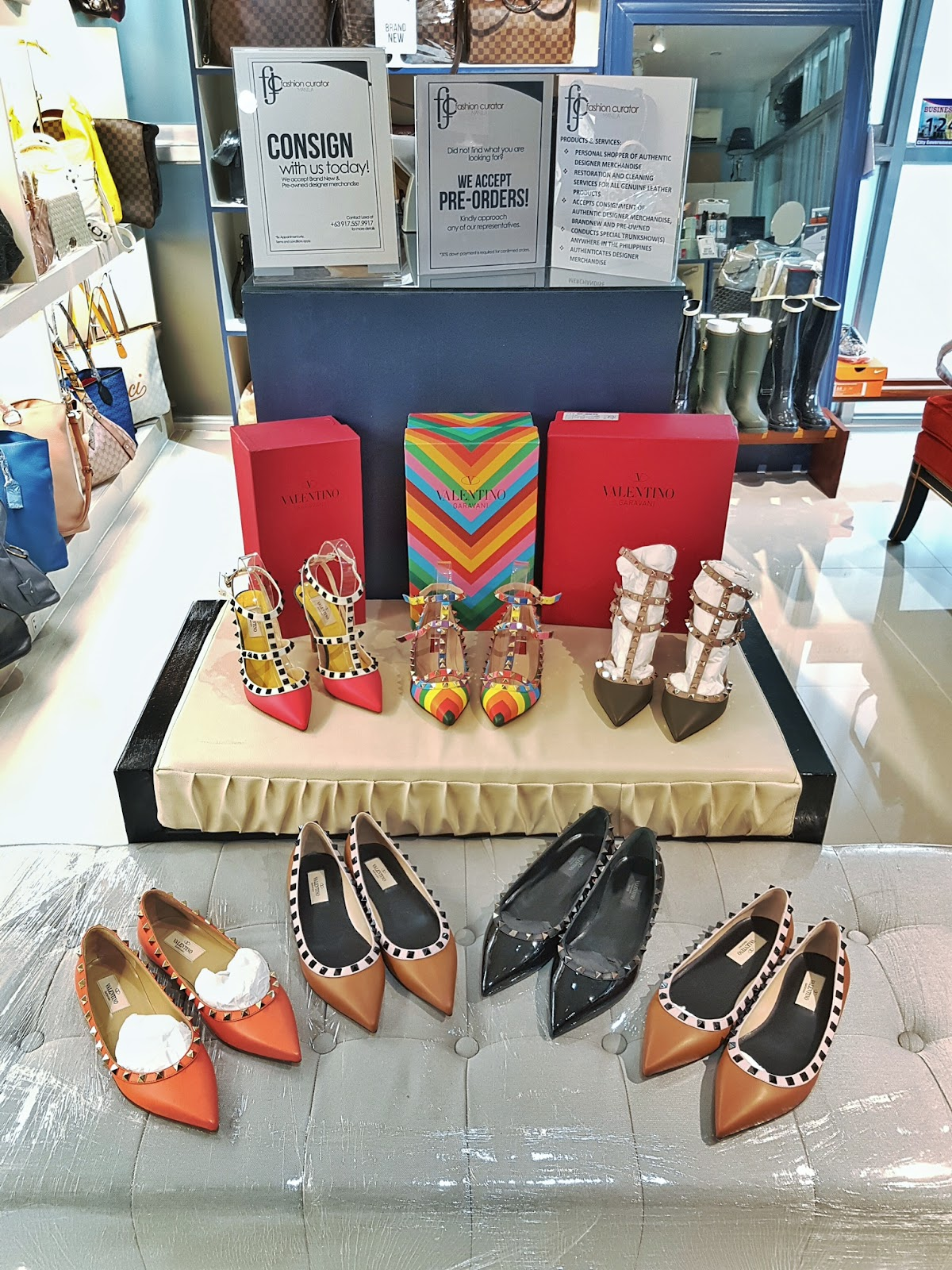 Cebu, Fashion Blogger, Beauty Blogger, Lifestyle, Luxury Items, Cebu Shops, Celine Mini Luggage, Cebu Events, Fashion Curator Manila, branded bags, for sale, Cebu trunk show, pop-up shop, branded preloved bags, Valentino, heels, shoes, spiked shoes