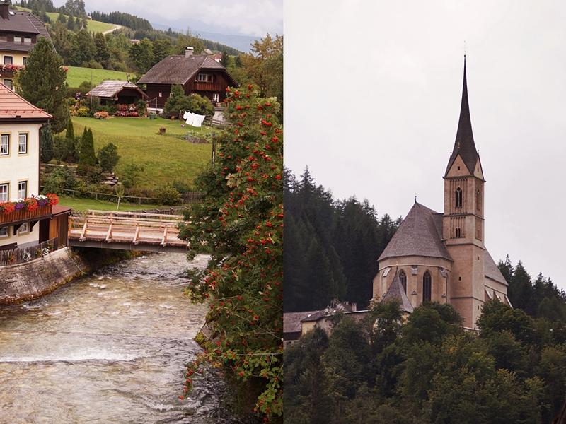 Urlaub im Lungau, Österreich, im Herbst: Wandern auf dem Speiereck und im Wald, Burg Mauterndorf