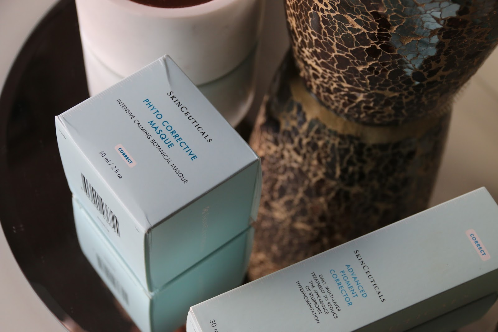 SkinCeuticals Phyto Corrective Masque and SkinCeuticals Advanced Pigment Corrector for hyperpigmentation Review Image
