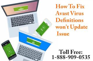 avast mobile virus definition update failed