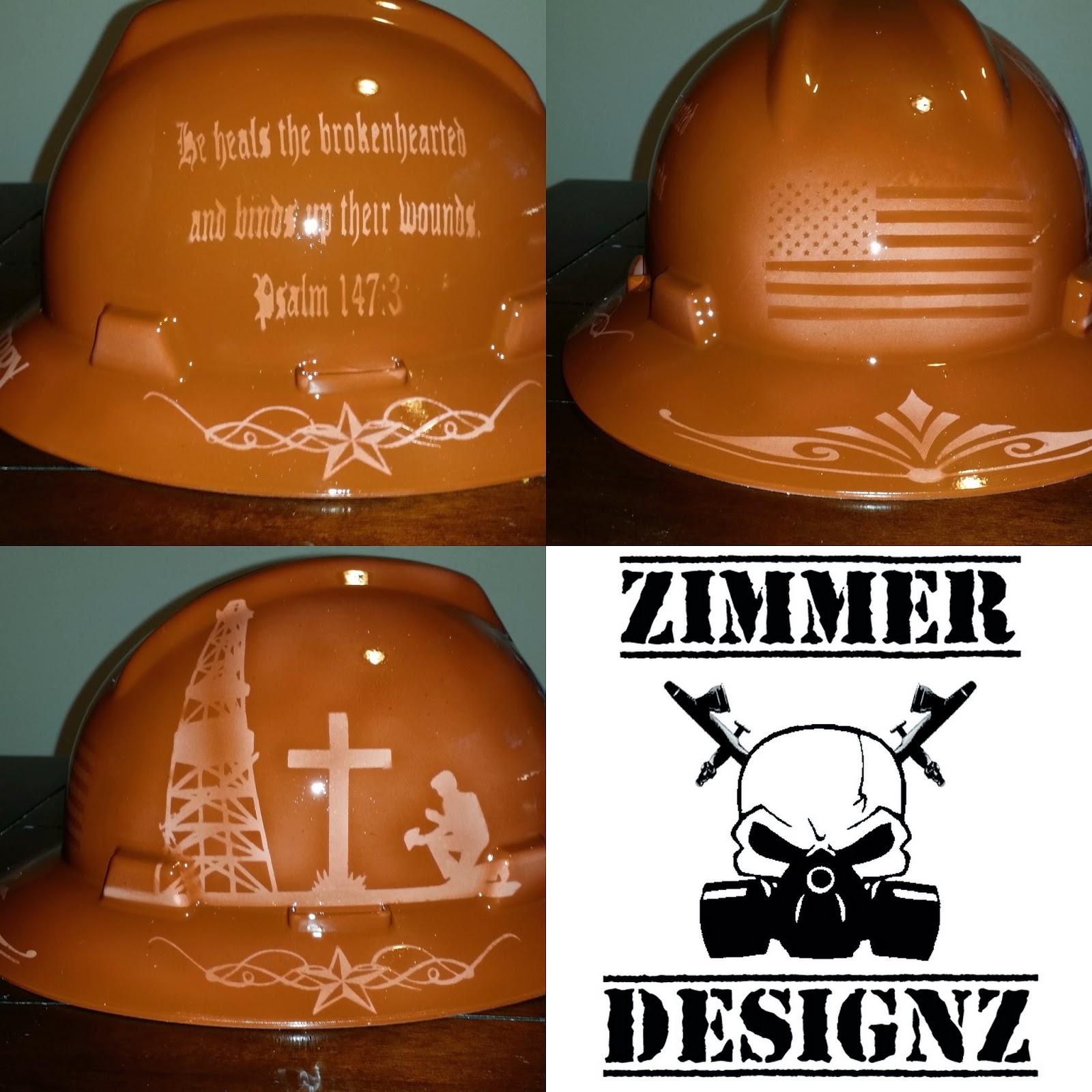Real Carbon Fiber Hard Hat: Zimmer DesignZ Airbrush Shop