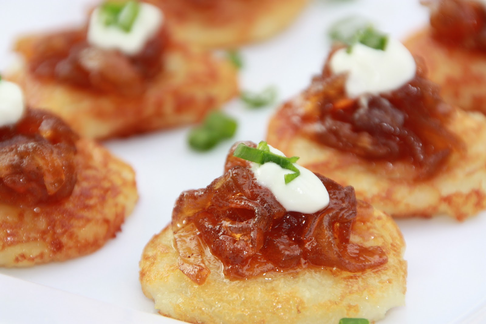 Everyday Sisters Mini Potato Pancakes With Carmelized Apples