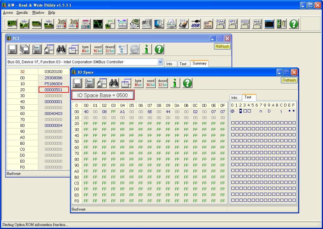 iInfo 資訊交流: 使用RW讀寫Smbus device
