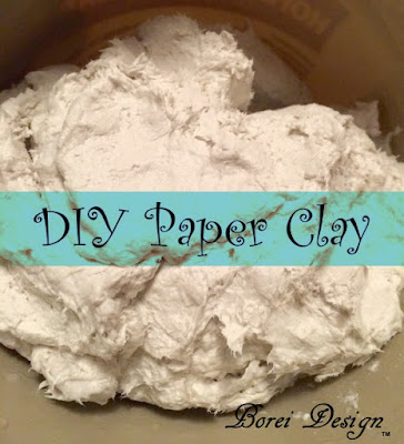 DIY Craft Tutorial How to make paper mache air dry clay